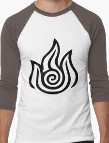 Firebending Black Men's Baseball ¾ T-Shirt