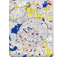 Paris Piet Mondrian Style City Street Map Art iPad Case/Skin