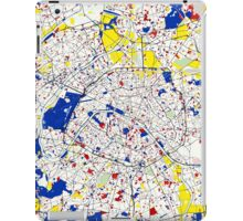 Paris Piet Mondrian Style City Street Map Art iPad Case/Skin