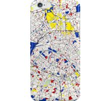Paris Piet Mondrian Style City Street Map Art iPhone Case/Skin