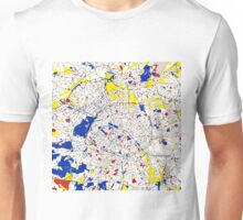 Paris Piet Mondrian Style City Street Map Art Unisex T-Shirt