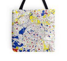 Paris Piet Mondrian Style City Street Map Art Tote Bag