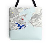 Rio de Janeiro Piet Mondrian Style City Street Map Art Tote Bag