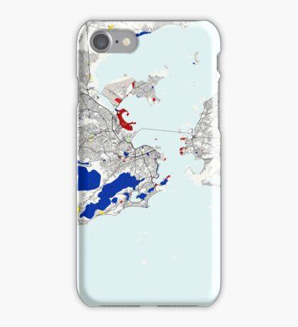 Rio de Janeiro Piet Mondrian Style City Street Map Art iPhone Case/Skin