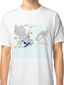 Rio de Janeiro Piet Mondrian Style City Street Map Art Classic T-Shirt