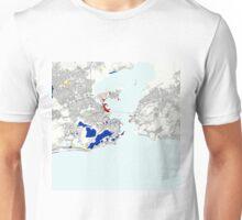 Rio de Janeiro Piet Mondrian Style City Street Map Art Unisex T-Shirt