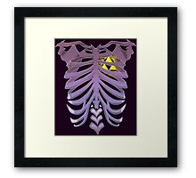 Zelda Triforce heart (v2) Framed Print