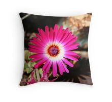 Vividly Pink Throw Pillow