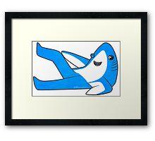 Saucy Superbowl Shark Framed Print