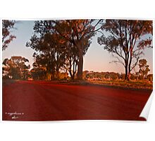 Outback Red Road Australia Poster