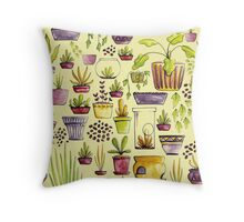 Indoor Plants and Pots Throw Pillow