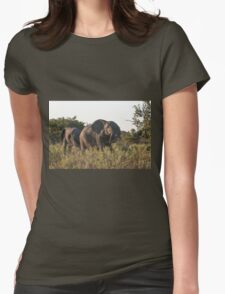 Charging Elephant Womens Fitted T-Shirt