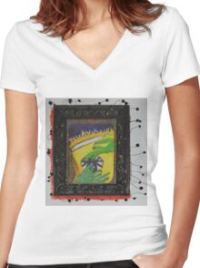 Oh Oh - Green Hands Women's Fitted V-Neck T-Shirt