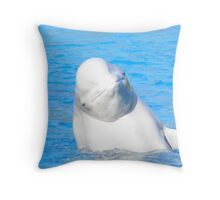 Beluga Smile. Throw Pillow