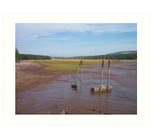 Bay of Fundy Tidal Flats Art Print