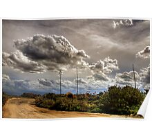 Storm Clouds Over Avalon Beach Poster