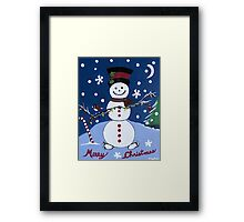 Snow Toes Framed Print