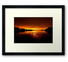 Middle of the lake  Framed Print