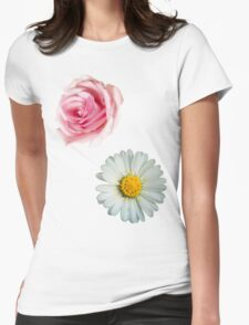 Rose & daisy Womens Fitted T-Shirt