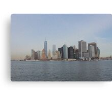 Downtown Skyline New York City Canvas Print
