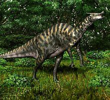 Saurolophus by Walter Colvin