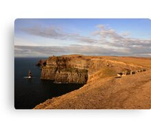 Cliffs of Moher evening view Canvas Print