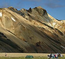 Camping in Landmannalaugar (inSouth Iceland).  by Philippe Rikir