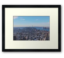 Downtown Manhattan Shot from The Empire State Building Framed Print
