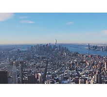 Downtown Manhattan Shot from The Empire State Building Photographic Print