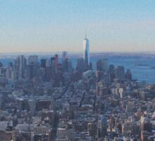 Downtown Manhattan Shot from The Empire State Building Sticker