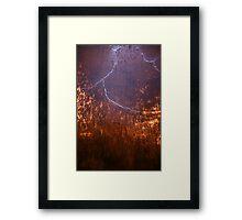 Lightning Shower Framed Print