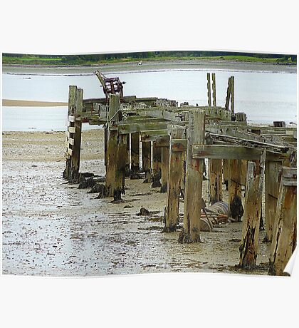 Low Tide At Fahan Pier..........................................Ireland Poster