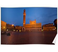 Piazza il Campo Siena at night Poster