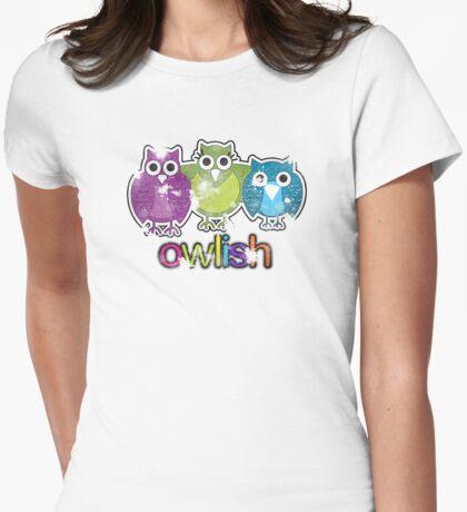 owlish retro  Womens Fitted T-Shirt