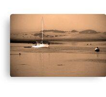 Dawn on Moro Bay sand banks, California. Canvas Print