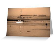 Dawn on Moro Bay sand banks, California. Greeting Card
