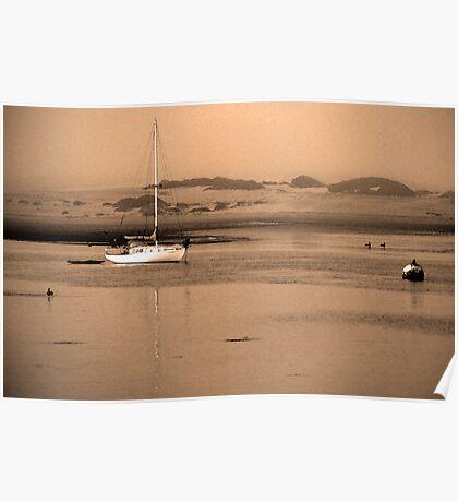 Dawn on Moro Bay sand banks, California. Poster