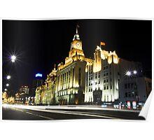 Shanghai Bund By Night Poster