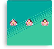 Pixel Ume/Plum Blossom Canvas Print