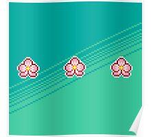 Pixel Ume/Plum Blossom Poster
