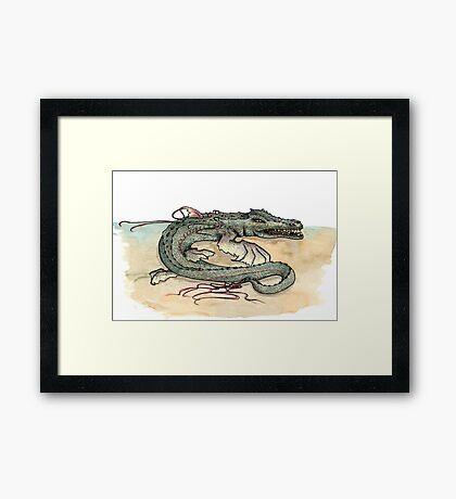 Serpentia ichneumonia (clean version) Framed Print