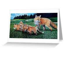 A Sly Foursome On The Fairway Greeting Card