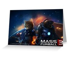Mass Furball Greeting Card