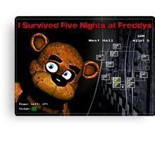 Five Nights at Freddy's Survivors T-Shirt Canvas Print