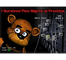 Five Nights at Freddy's Survivors T-Shirt Photographic Print