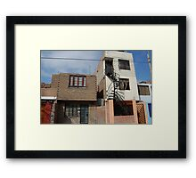 a motel in lima Framed Print