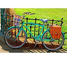 """""""Life is like riding a bicycle...""""  Albert Einstein Photographic Print"""