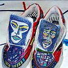 Mixed Media Altered Shoe Art by CDCcreative