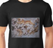 BULLIE CART Watercolour of Bull Terriers Pulling a Cart! Unisex T-Shirt