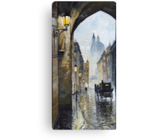 Prague Old Street 01 Canvas Print